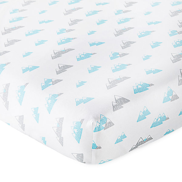 Okie Dokie Blue Mountain Crib Sheet - Baby Boy