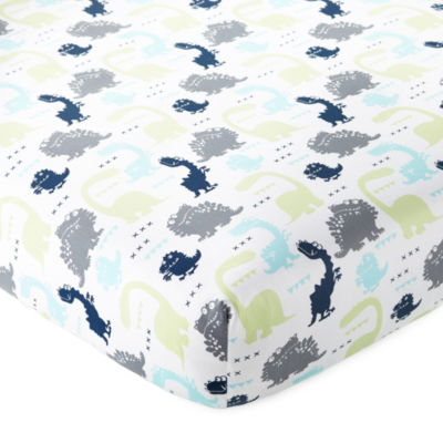 Okie Dokie Dinosaur Fitted Crib Sheet - Baby Boy