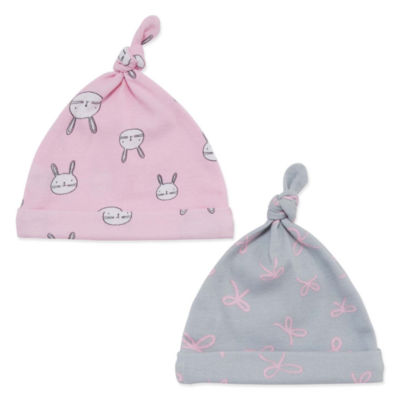 Okie Dokie Pink Bunny 2 Pack Hat - Baby Girl