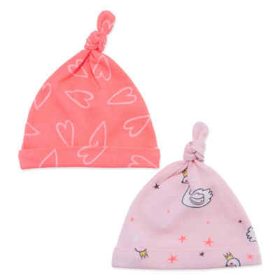 Okie Dokie Swan & Hearts 2 Pack Hat - Baby Girl