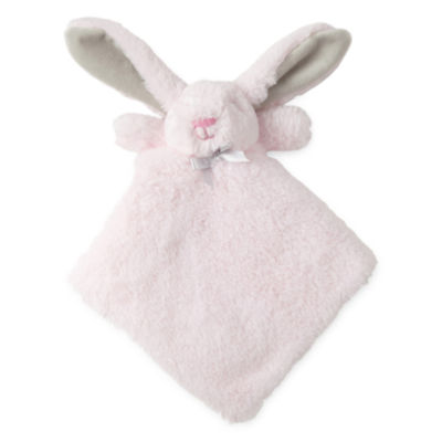 Okie Dokie Pink Bunny Lovey Security Blanket - Baby Girl