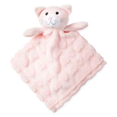 Okie Dokie Pink Cat Lovey Security Blanket- Baby Girl