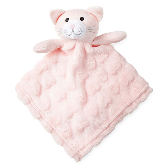 ee8f5d2c5488c6 Okie Dokie Pink Cat Lovey Security Blanket Baby Girl JCPenney