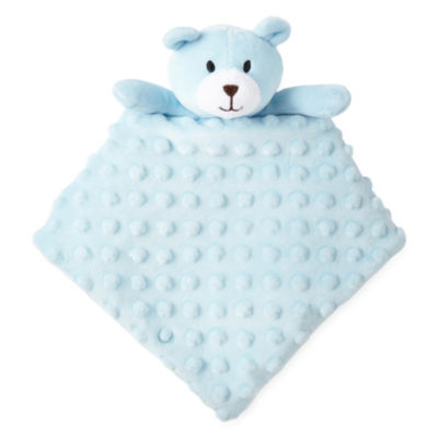 Okie Dokie Blue Bear Security Blanket - Baby Boy