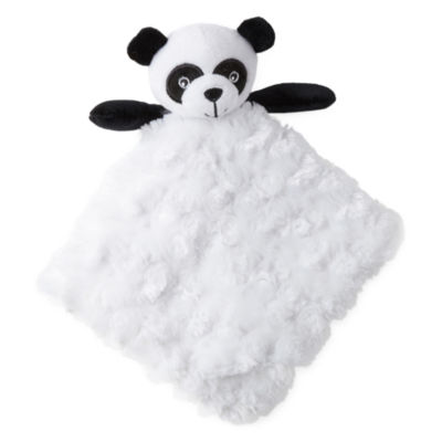 Okie Dokie Panda Bear Lovey Security Blanket-Baby