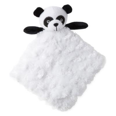 Okie Dokie Panda Bear Lovey Security Blanket-Baby