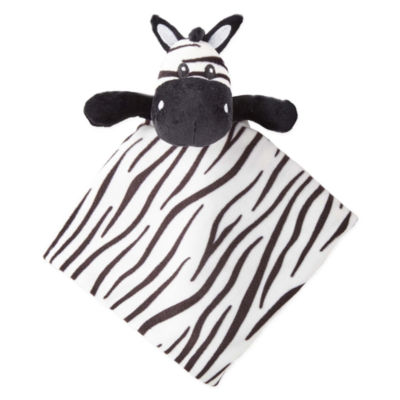 Okie Dokie Zebra Lovey Security Blanket-Baby