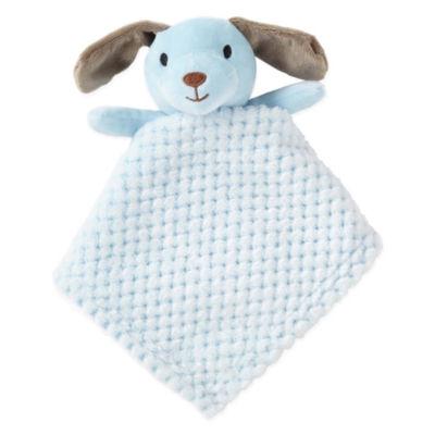 Okie Dokie Blue Dog Lovey Security Blanket-Baby Boy