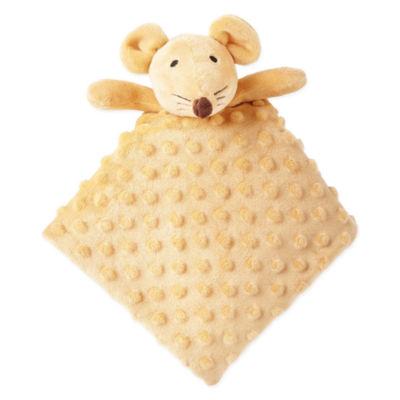 Okie Dokie Brown Mouse Lovey Security Blanket-Baby