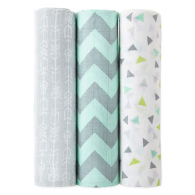 Okie Dokie Aztec 3 Pack Swaddle Blanket - Baby