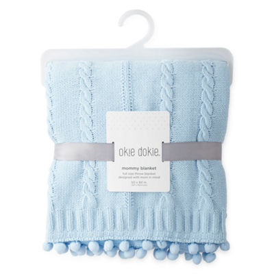 Okie Dokie Blue Mommy Blanket - Baby