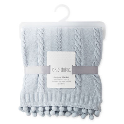 Okie Dokie Gray Mommy Blanket - Baby