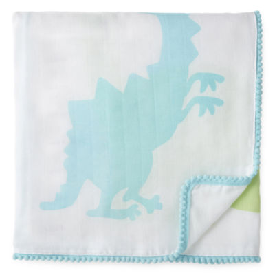Okie Dokie Dinosaur Milestone Baby Blanket