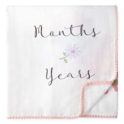 Okie Dokie Floral Milestone Baby Blanket