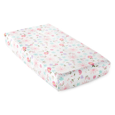 Okie Dokie Floral Changing Pad Cover - Baby Girl