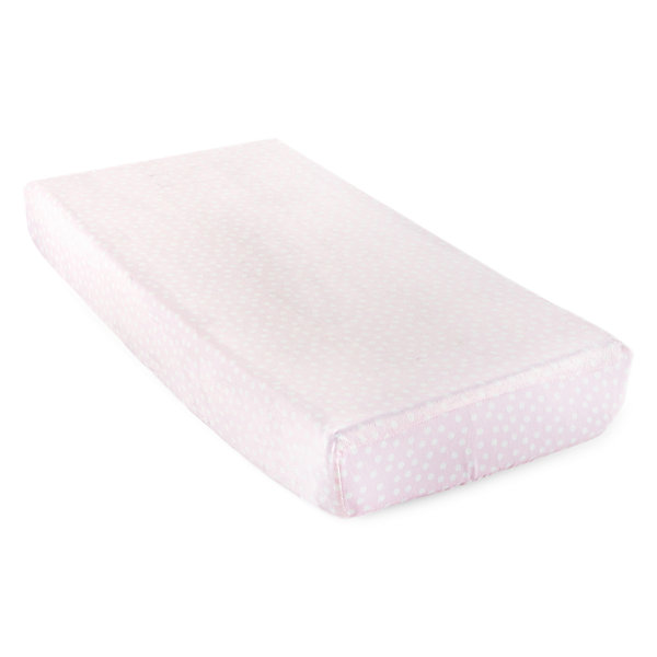 Okie Dokie Pink Polka Dot Changing Pad Cover - Baby Girl