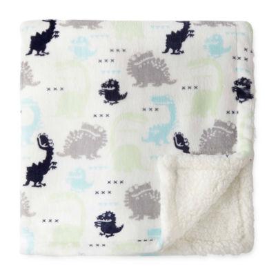 Okie Dokie Dinosaur Plush Baby Blanket