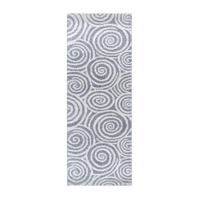 Tayse Silkati Shag Xepheus Contemporary Geometric Shag Rug