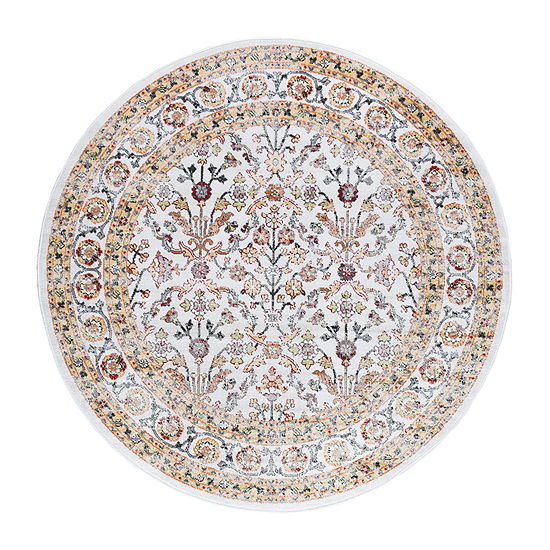 Tayse Milan Lucia Traditional Round Area Rug