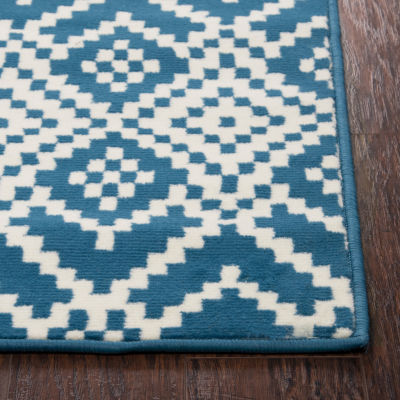 Rizzy Home Glendale Collection Zeke Geometric Rug