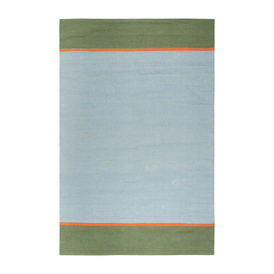 Rizzy Home Flip Top Collection Slate Geometric Accent Rug
