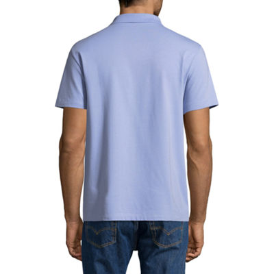 Claiborne Short Sleeve Knit Polo Shirt Slim