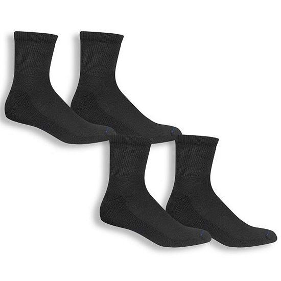 Dr. Scholl's Diabetes And Circulatory 4 Pair Crew Socks-Mens
