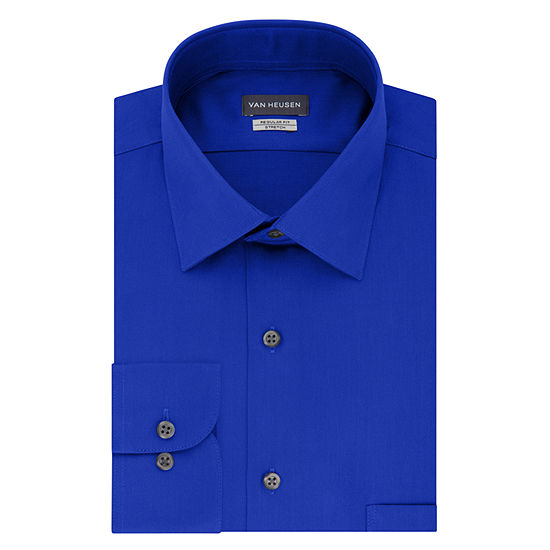 Van Heusen No Iron Lux Sateen Long Sleeve Dress Shirt - Big and Tall