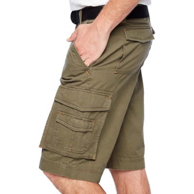 Smith Workwear Belted Twill Cargo Shorts
