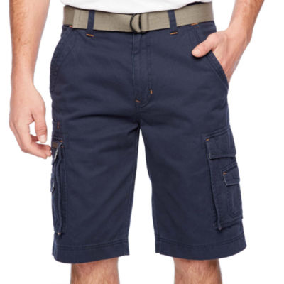 Smith Workwear Belted Twill Cargo Shorts