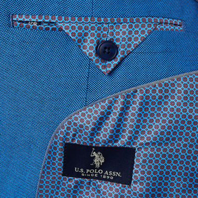 Us Polo Assn. Classic Fit Woven Pin Dot Sport Coat