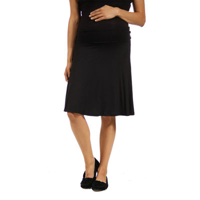 24/7 Comfort Apparel Full Skirt-Maternity