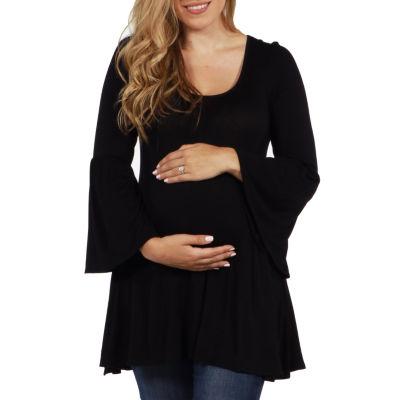 24/7 Comfort Apparel Del Mar Maternity Tunic Top