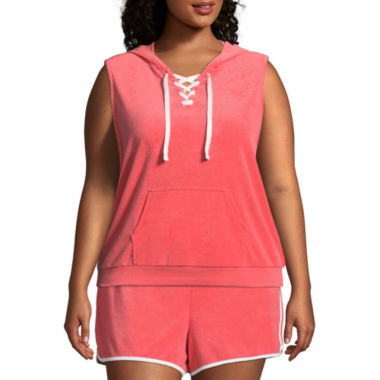 Flirtitude Lace Up Hoodie - Juniors Plus