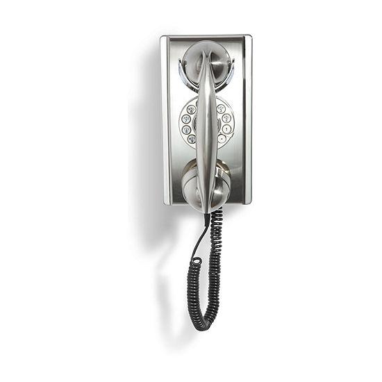 Crosley Corded 302 Wall Phone - Brushed Chrome