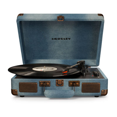 Crosley Cruiser Deluxe 3-Speed Portable Turntable with Bluetooth
