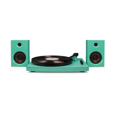 Crosley T100A 2-Speed Turntable System with Two 15-Watt Stereo Speakers