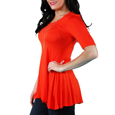 24/7 Comfort Apparel 3/4 Sleeve Tunic Top