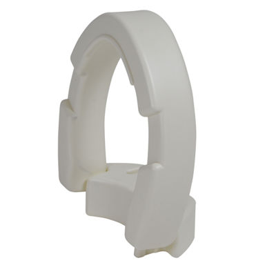 Drive Medical Hinged Toilet Seat Riser, Elongated Seat