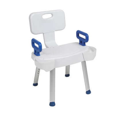 Drive Medical Bathroom Safety Shower Chair with Folding Back