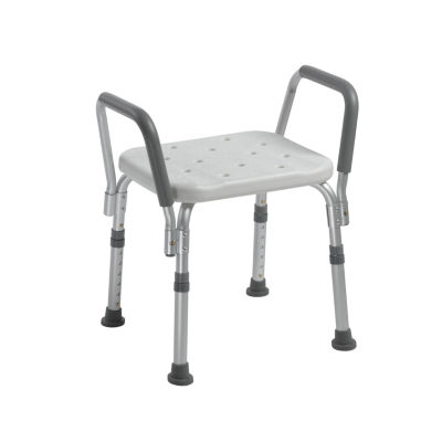 Drive Medical Knock Down Bath Bench with Padded Arms