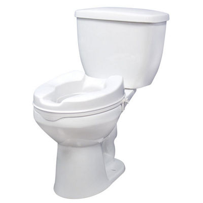 Drive Medical Raised Toilet Seat with Lock, Standard Seat, 4""
