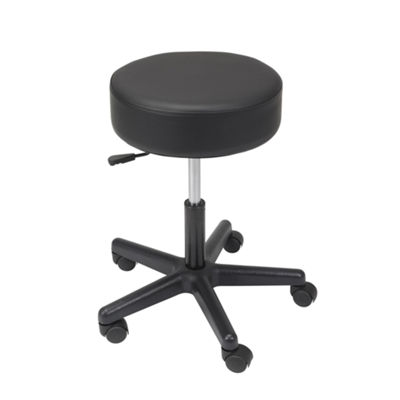 Drive Medical Padded Seat Revolving Pneumatic Adjustable Height Stool, Plastic Base
