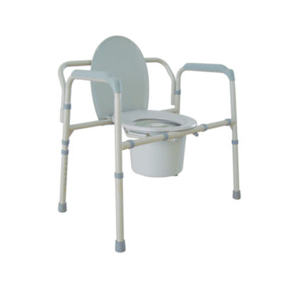 Drive Medical Heavy Duty Bariatric Folding Bedside Commode Chair