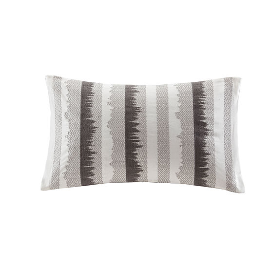 INK + IVY Chet Embroidered Cotton Oblong 12X20 Pillow