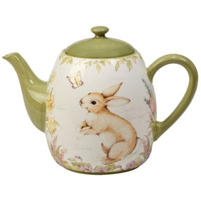 Certified International Bunny Patch Teapot