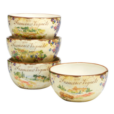 Certified International Vino 4-pc. Ice Cream Bowl