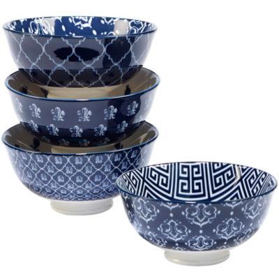Certified International Blue Indigo 4-pc. Ice Cream Bowl