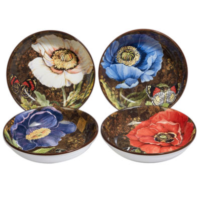 Certified International Poppy Garden 4-pc. Soup Bowl