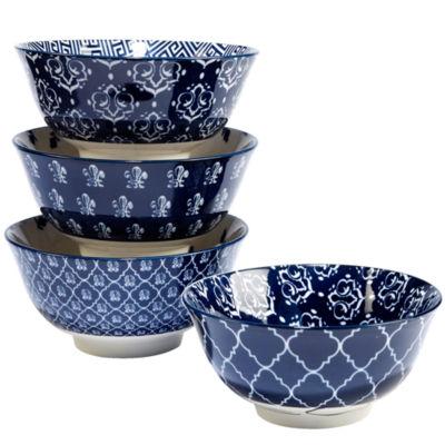 Certified International Blue Indigo 4-pc. Soup Bowl